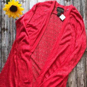 NWT Absolutely coral long cardigan sweater